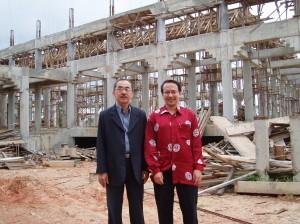 Site visit by MACMA Kelantan Chairman, YB Dato' Haji Anuar Tan (left) and MACMA Kelantan secretary, Johari Yap (right)